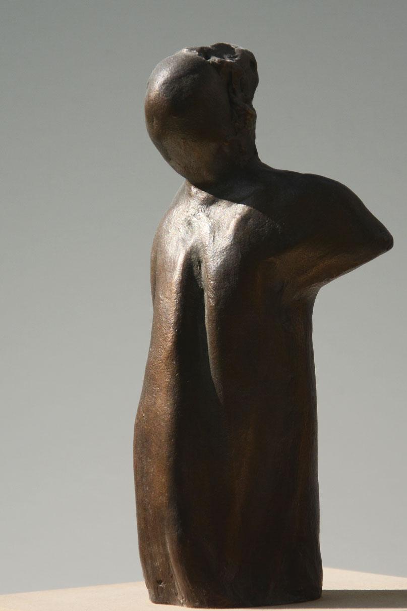 Bronzefigur, ca. 90 x 55 x 165 mm