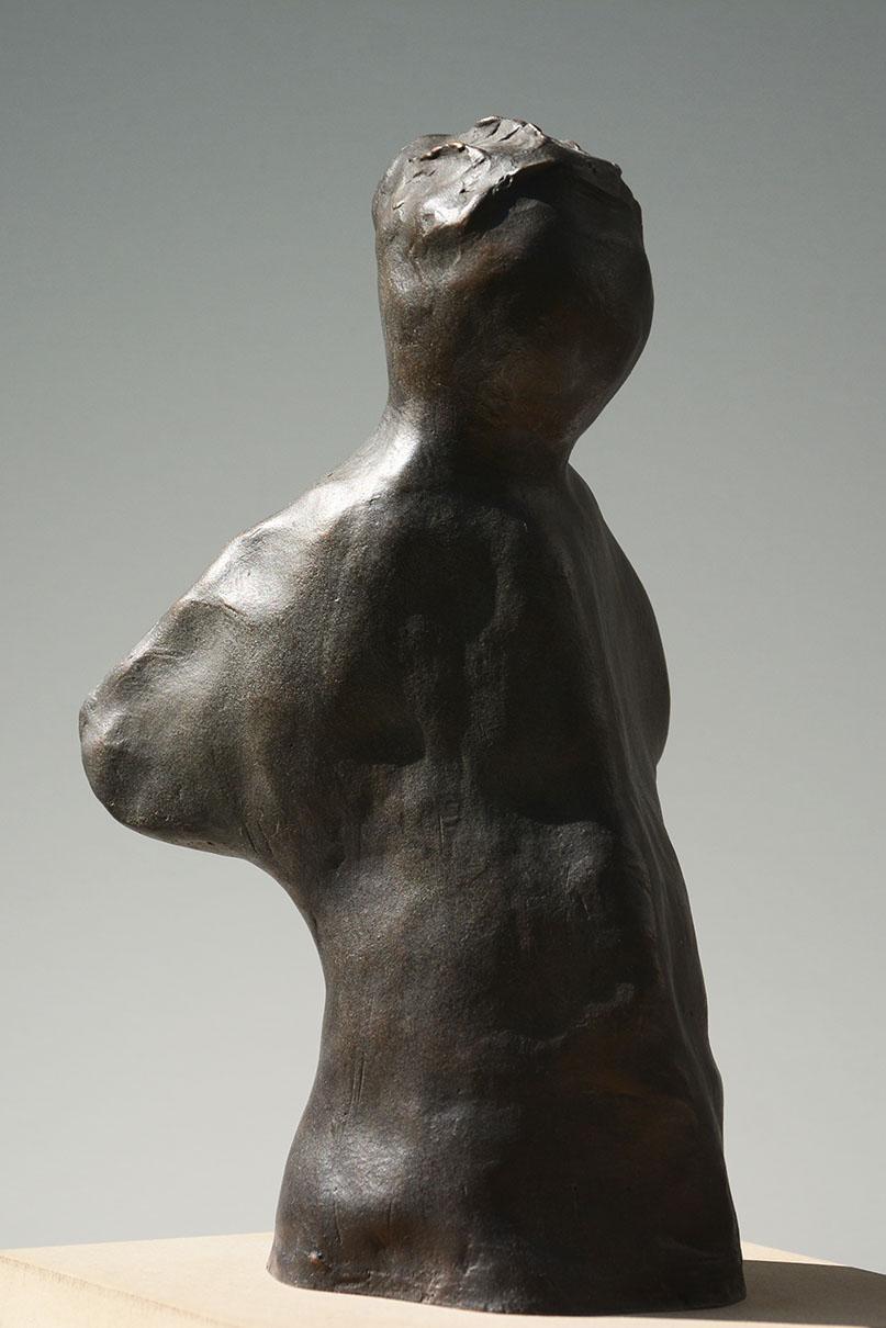 Bronzefigur, ca. 150 x 95 x 235 mm