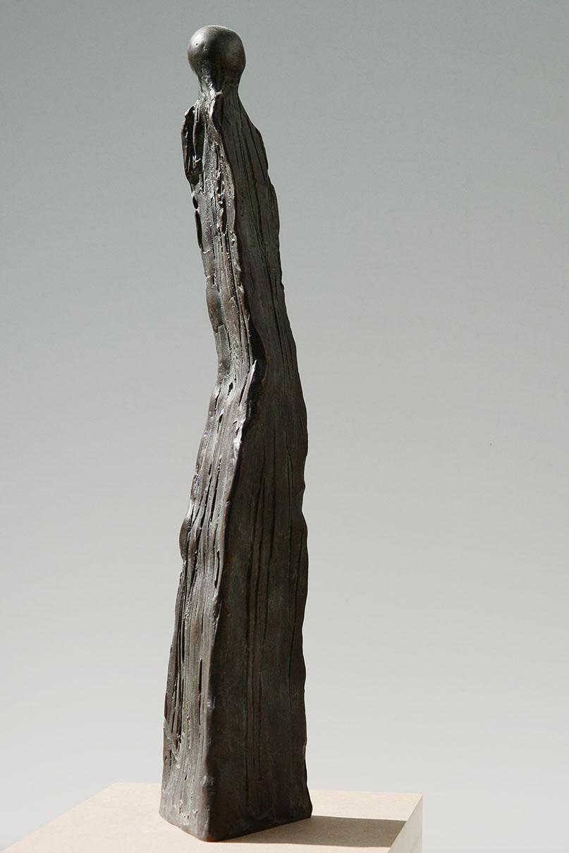 Bronzefigur, 75 x 65 x 375 mm