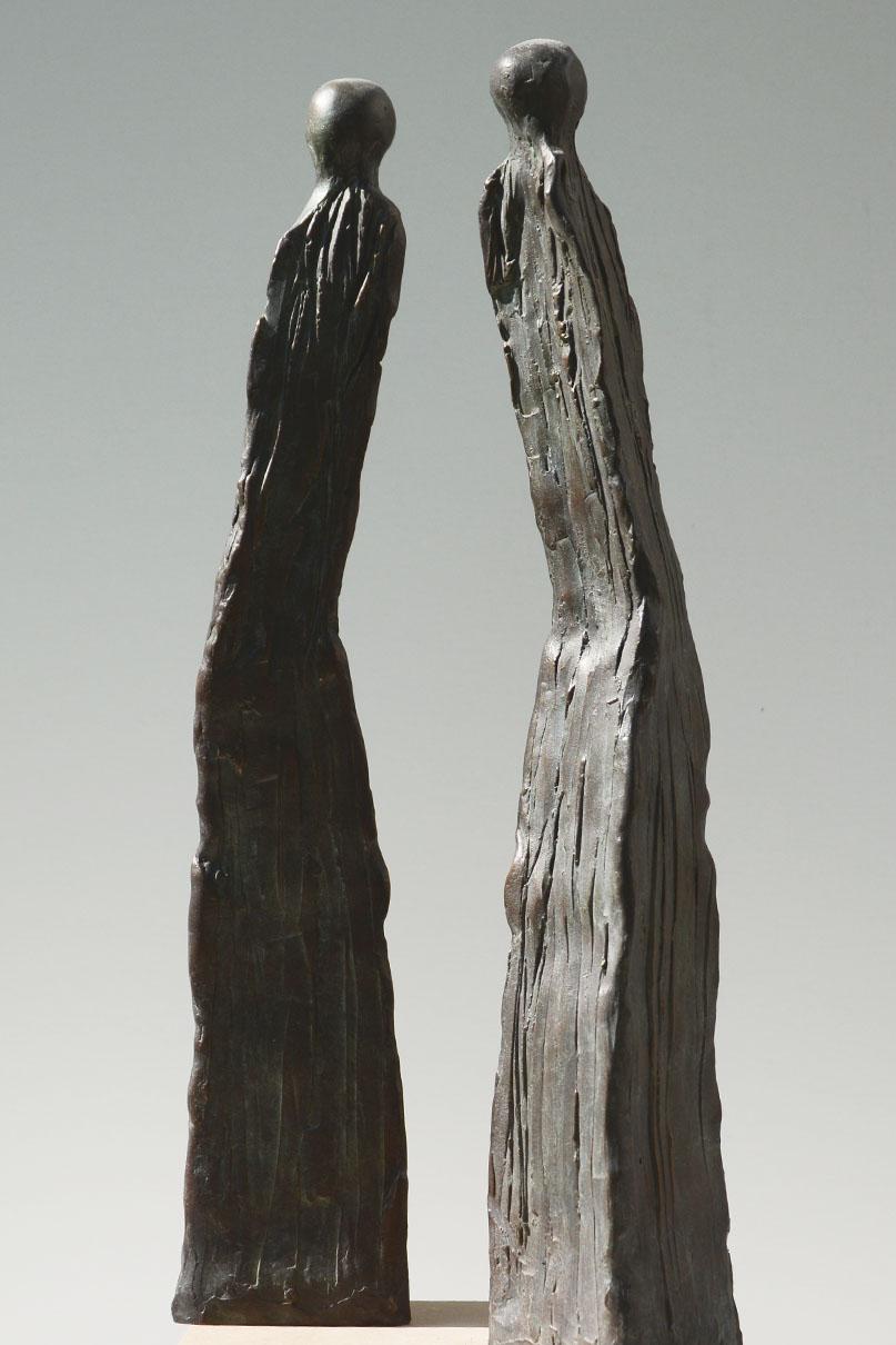 Bronzefiguren, 75 x 65 x 375 mm